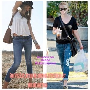 7 for all Mankind Roxanne Flood Cropped Jeans